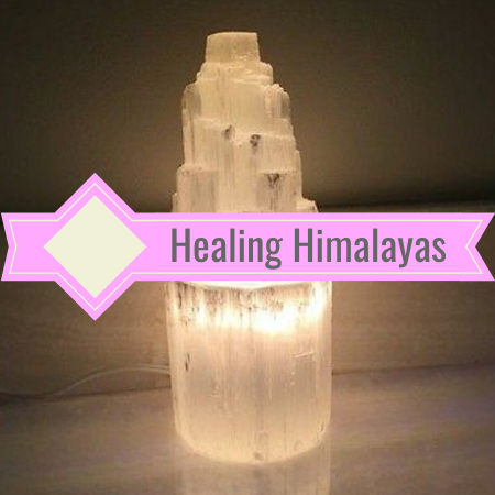 Selenite Tower Lamp - Small