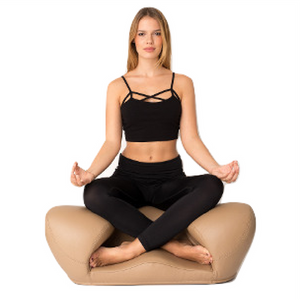 Alexia Meditation Seat - Leather - Latte