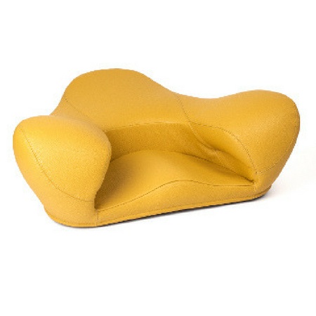 Alexia Meditation Seat - Vegan Leather - Yellow