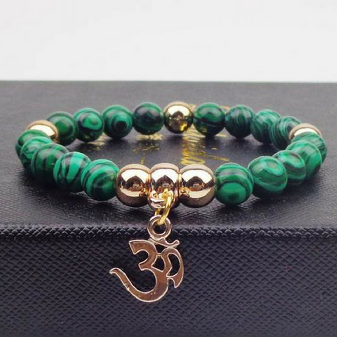 Image of Om Bracelet - With Gold Charm!