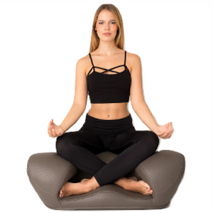 Alexia Meditation Seat - Vegan Leather - Dark Grey