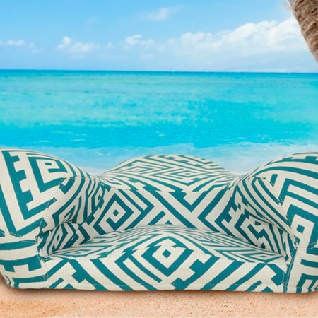 Image of Alexia Meditation Seat - Fabric - Caribbean Blue