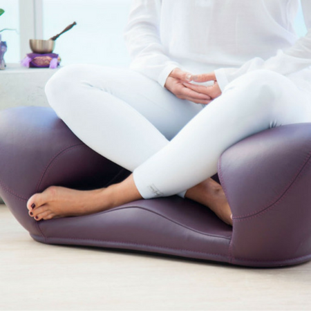 Image of Alexia Meditation Seat - Leather - Purple