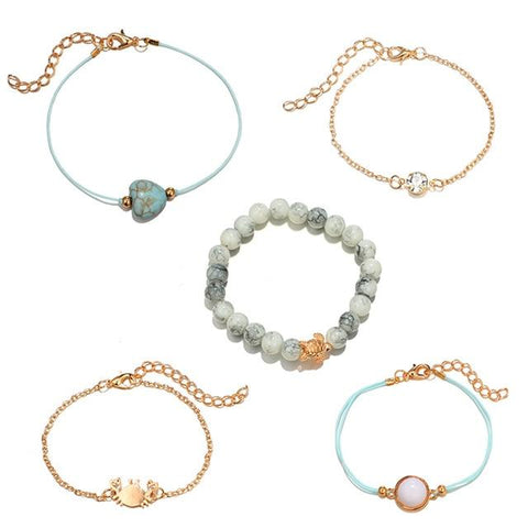 Image of Crab Love 5-Piece Bracelet