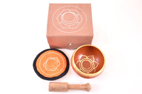 Singing Bowl Gift Set - Orange Sacral Chakra
