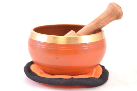 Image of Singing Bowl Gift Set - Orange Sacral Chakra