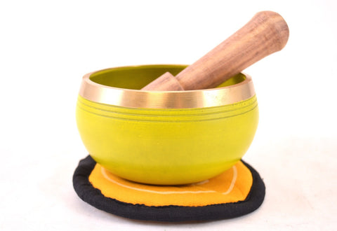 Image of Singing Bowl Gift Set - Yellow Solar Plexus Chakra