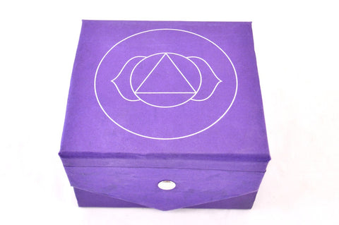 Image of Singing Bowl Gift Set - Indigo Third Eye Chakra
