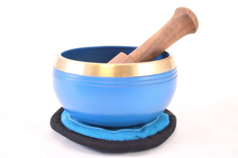 Singing Bowl Gift Set - Blue Throat Chakra