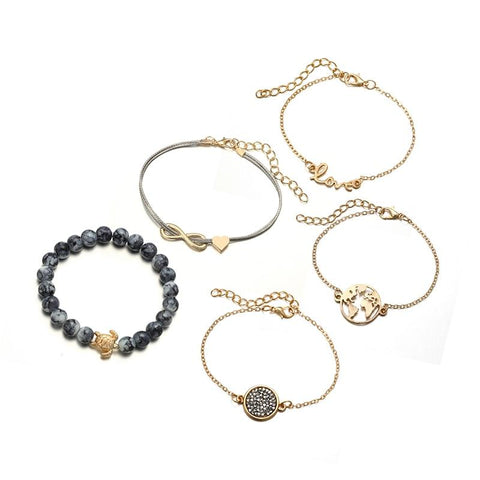 Image of Ocean Love 5-Piece Bracelet