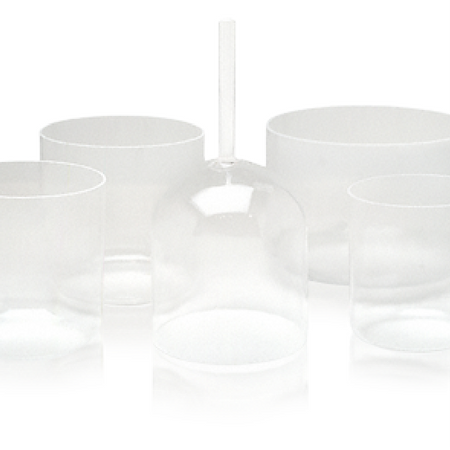 Optically Clear Crystal Singing Bowl - 8""