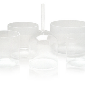 Optically Clear Crystal Singing Bowl - 8