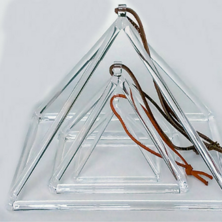 Quartz Crystal Singing Pyramid - 8""