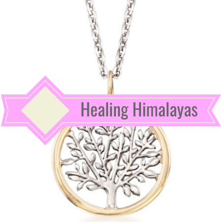 Tree Of Life Pendant and Chain - Gold and Silver