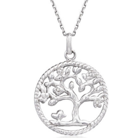 Tree Of Life Pendant and Chain - Silver