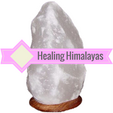 White Himalayan Salt Lamps - 40-50 Pound Lamps