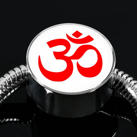 Image of Aum Charm & Bracelet (Red)