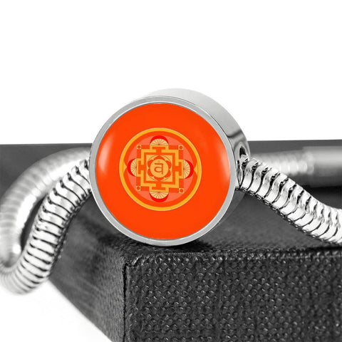 Image of Sacral (Second) Chakra Charm & Bracelet