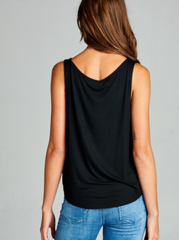 Image of Black & Gold Om Yoga Tank