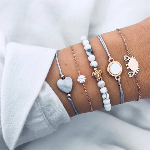 Crab Love 5-Piece Bracelet