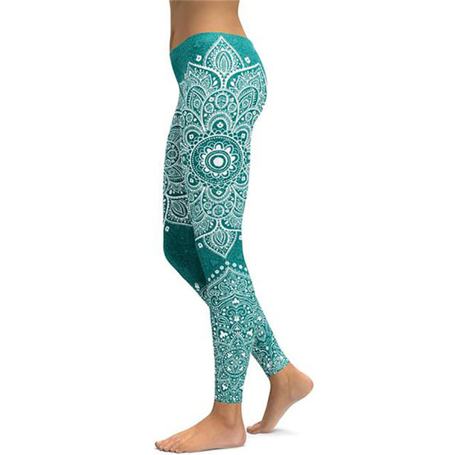 Women's Mandala Leggings - Green