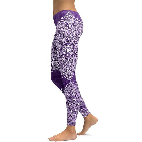 Women's Mandala Leggings - Purple