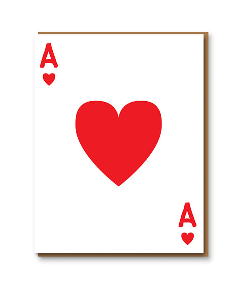 1973 Ace of Hearts Letterpress Card