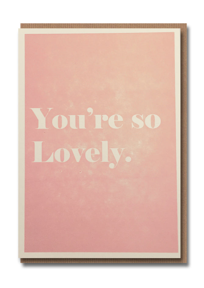 1973 You're So Lovely Letterpress Card