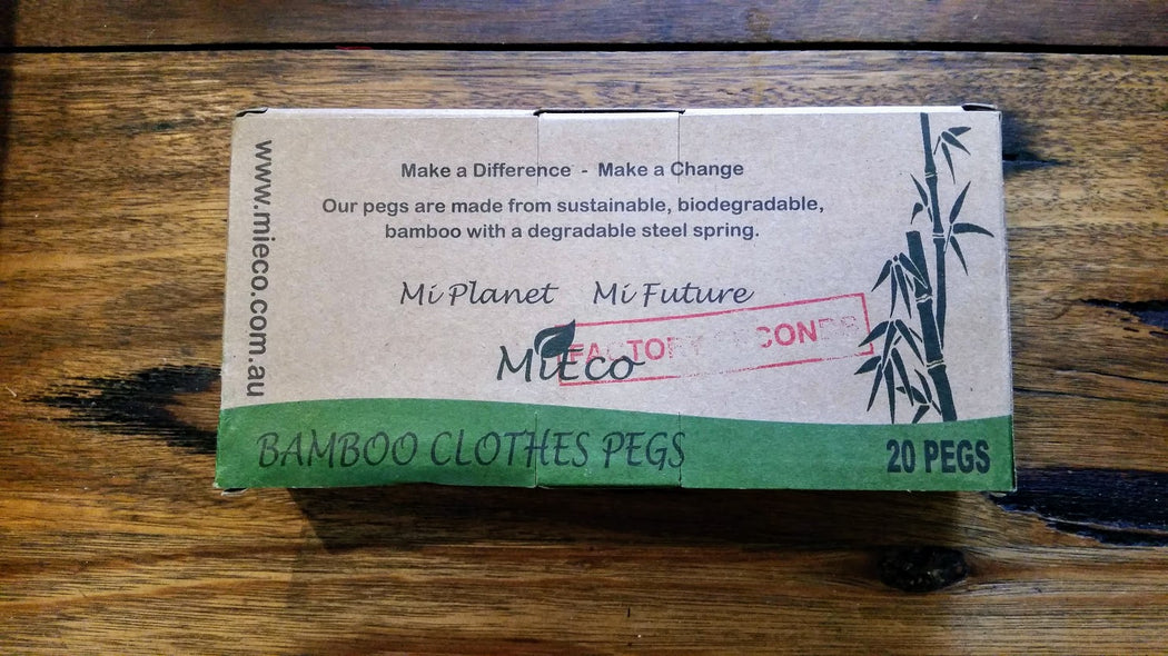 MiEco Bamboo Clothes Pegs