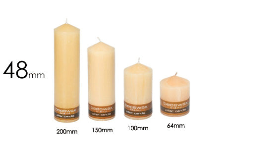 Beeswax Blend Pillar Candle