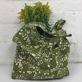 Apple Green Duck Calico Hampi Shopping Bag