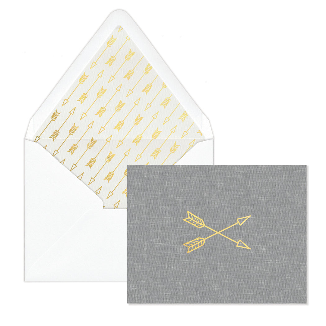 Arrows 12 Blank Notes With Lined Envelopes