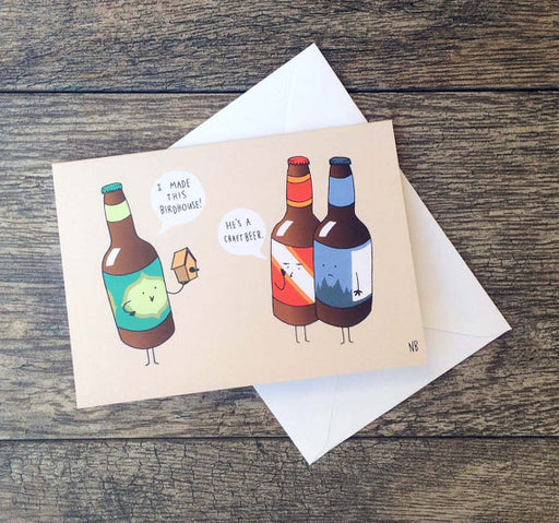 Bee Is For Bear Craft Beer Card