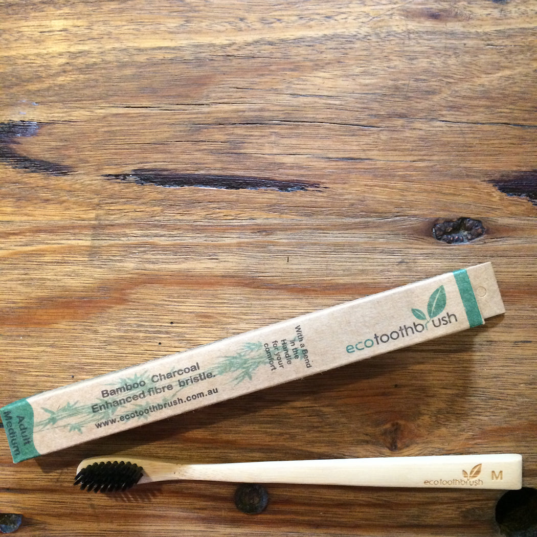 MiEco Bamboo Charcoal Bristle Toothbrush