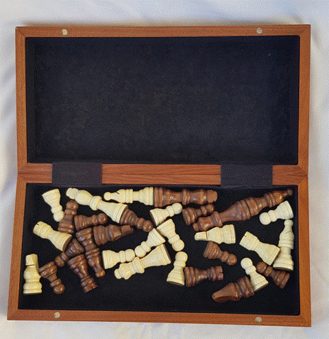 Timber Game - Magnetic Chess with Folding Travel Box