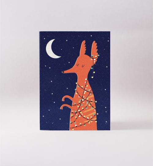 Surfing Sloth Christmas Numbat Card