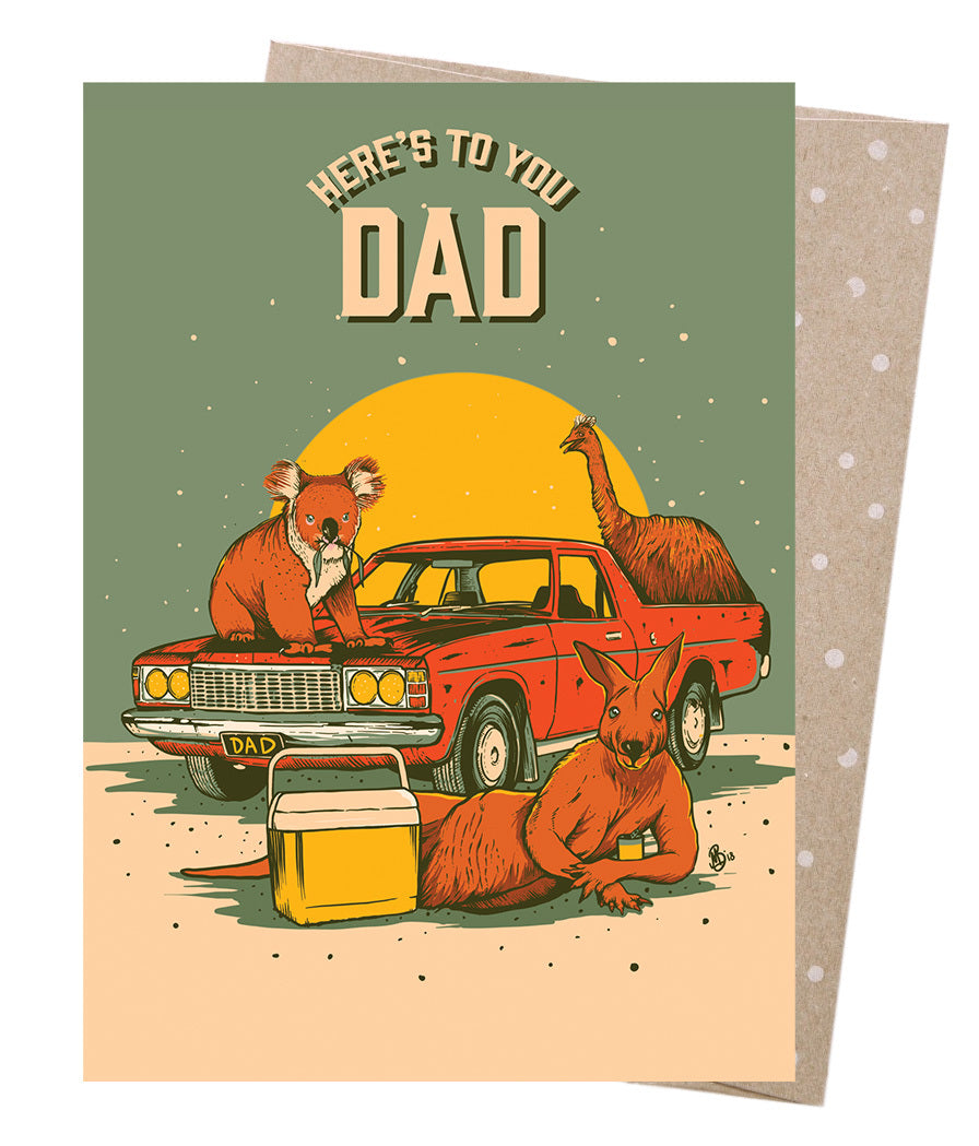 Earth Greetings Moonshine Madness Dad's Sunday Card