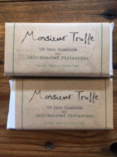 Monsieur Truffe 72% Dark with Salt-Roasted Pistachios
