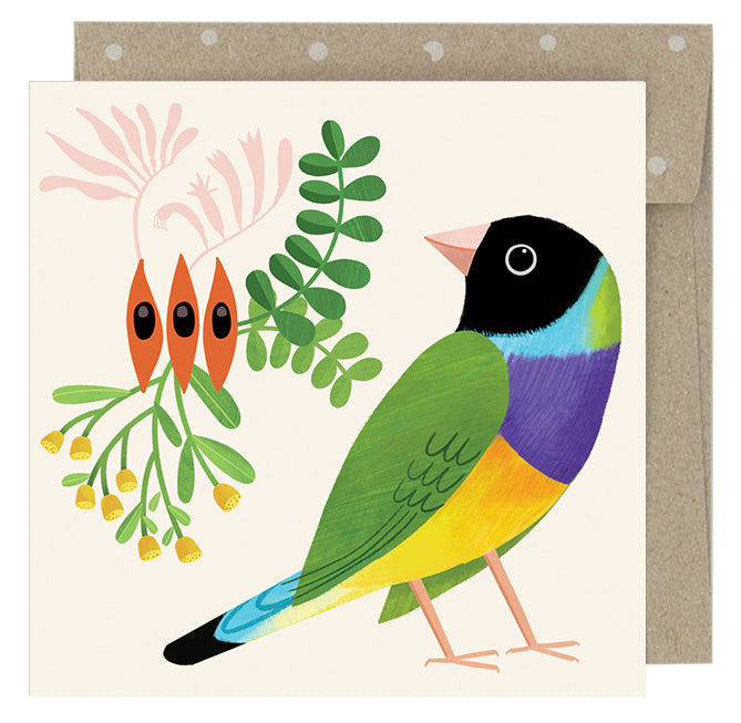 Earth Greetings Sarah Allen Desert Finch Gift Card