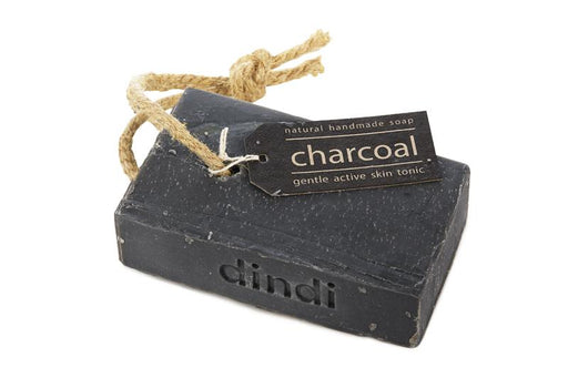 Dindi Naturals Charcoal Soap on Hemp Rope