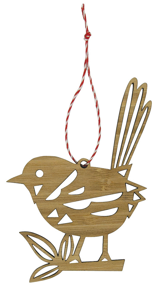 Earth Greetings Fairy Wren Bamboo Decoration