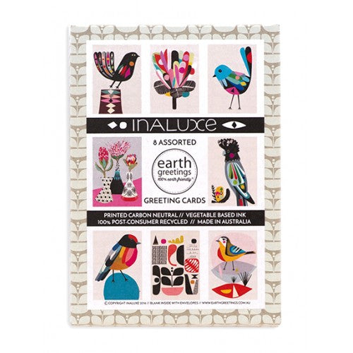Earth Greetings Inaluxe Assorted Pack 8 Cards