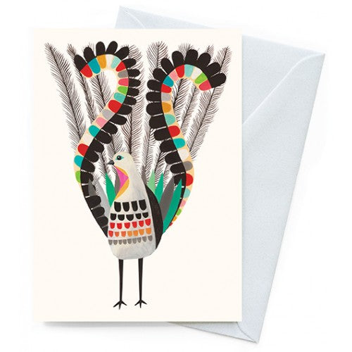 Earth Greetings Inaluxe Superb Lyrebird Card
