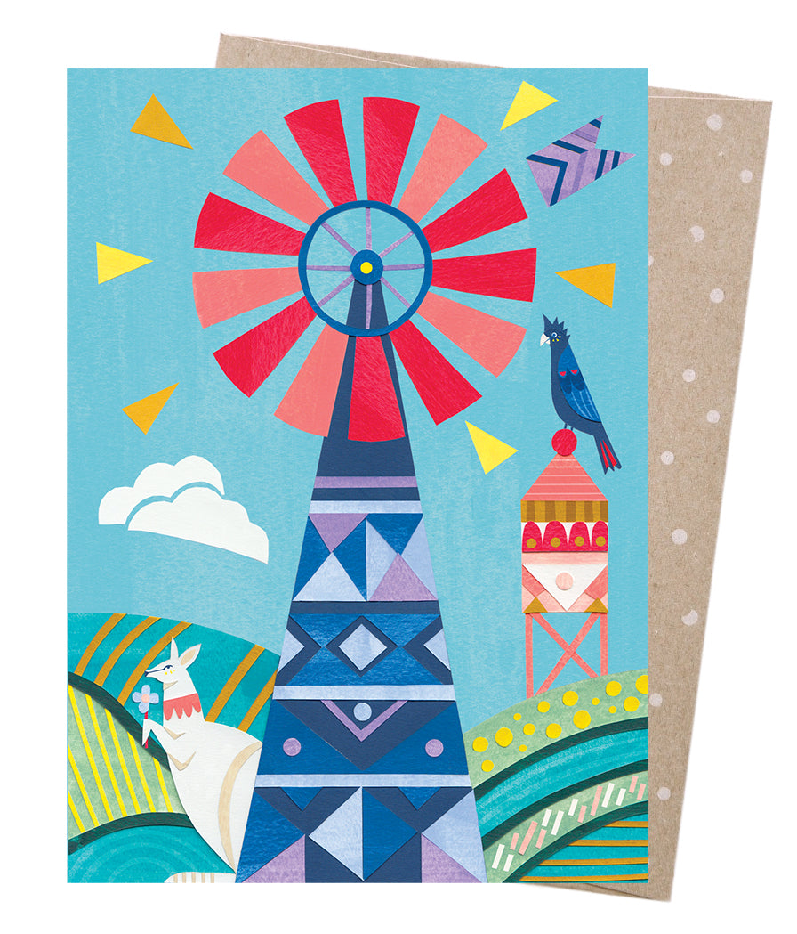 Earth Greetings Andrea Smith Windmill Card