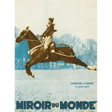Mirroir Du Monde Horse Leaping Card