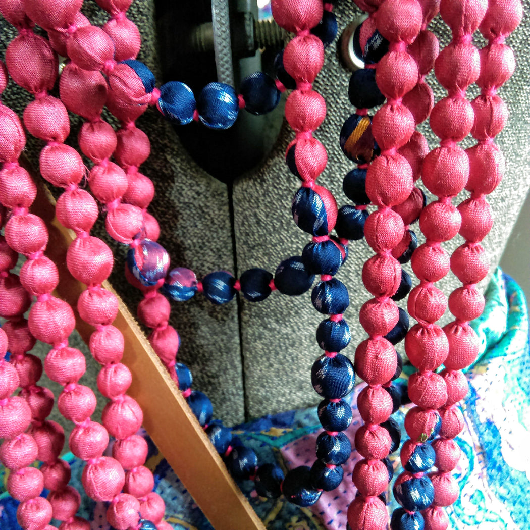House of Wandering 7 String Sari Bead Necklace