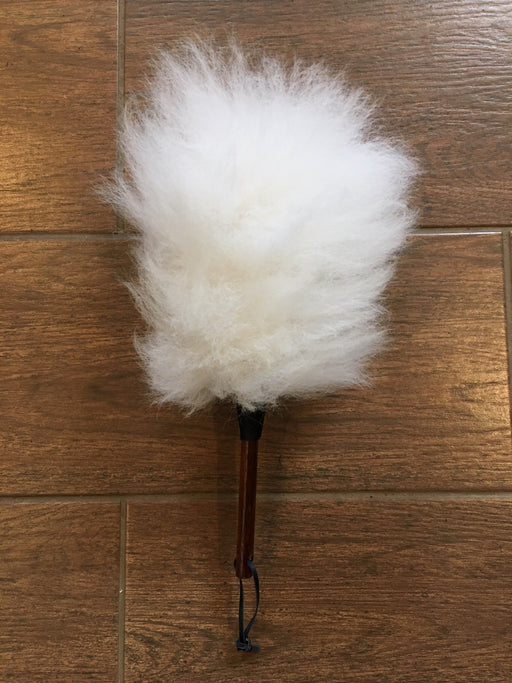 Lambswool Duster with Wooden Handle