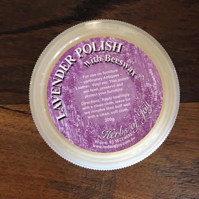 Lavender Polish with Beeswax