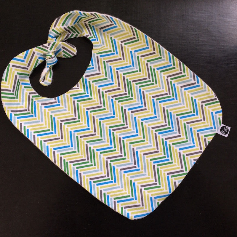 Baby Bib - Green Chevron