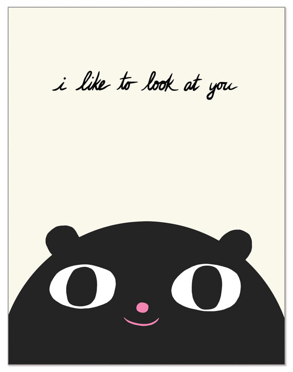 Laura Berger I Like To Look At You Card